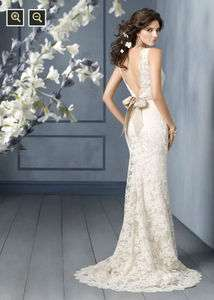 Custom made Amazing lace V NECK Wedding/prom Dress/Gown