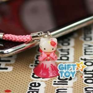 Sanrio Hello Kitty Japanese Kimono Cell Phone Charm
