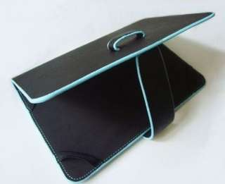 Blue edge black leather case for MID Tablet PC EPad VIA WM 8650