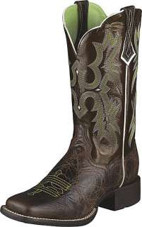 Ariat Ladies Chocolate Tombstone Boots #10005867 NIB