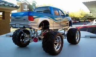 150 blue 4x4 Pickup MONSTER TRUCK Dub City Big Wheels diecast