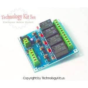 Relay Card Four Channels Fully Assembled Electronic Module