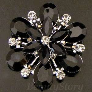 SHIPPING Austrian rhinestone crystal flower bouquet brooch pin
