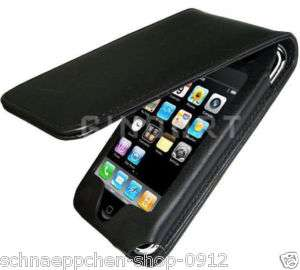 IPhone 3G/3GS Leder Schutzhülle, Etui Case Schwarz NEU