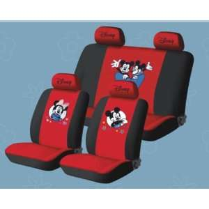 Car Seat Cover  New Mickey Mouse 10pcs Full Set Red . Automotive