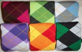 Womens Brand New Argyle Knee Hi Socks   Many Colors Knee High BUY 4