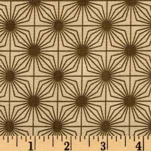 44 Wide The Brick House Sunburst Chocolate Fabric By The