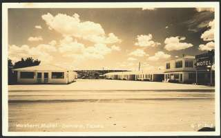 Sonora Texas TX 1950s Real Photo Vintage Postcard Roadside View