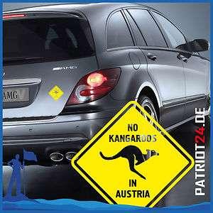 Aufkleber No Kangaroos in Austria Österreich Fun Car Sticker Tuning