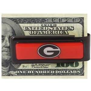 Georgia Bulldogs Red Money Clip: Sports & Outdoors