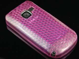 HOT PINK TPU GEL Diamond Gel Skin Cover Case 4 Nokia C3
