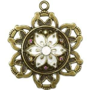 Antique Gold Tone Pendant Enhancer Arts, Crafts & Sewing