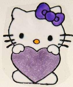 WINDOW COLOR Fensterbild  Hello Kitty Herz Haftfolie