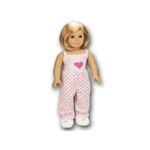 Toy Pink Heart PJ set for American Girl dolls Toys & Games