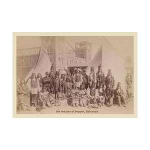 Ute Indians Denver Colorado 20x30 poster
