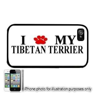 Tibetan Terrier Paw Love Dog Apple iPhone 4 4S Case Cover