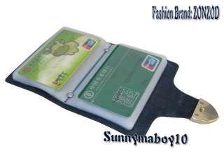 Brand Women Leather Business Credit ID Card Holder Men Wallet Purse