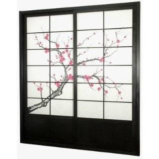 foot Tall Cherry Blossom Shoji Sliding Door Kit (Rosewood) (86H x