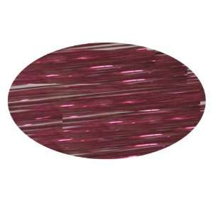 Piz Zaz Hair Glimmer Tinsel Cranberry Extensions + Hair Art Pin Tail