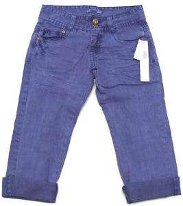 DKNY Girls Purple Jean Capris NWT $39