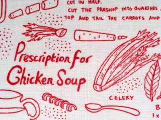 Chicken Soup Fabric BTY Recipe Kitchen Food Timeless Treasures
