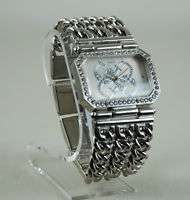 GUESS Watch White Swarovski Crystal Chain G11645L NEW