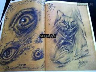 YW Tattoo Flash Books Magazine Sketch Manuscript