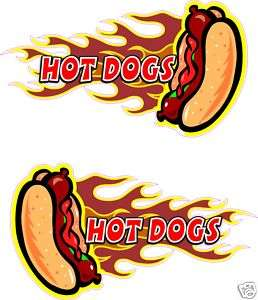 Hot Dogs Concession Hot Dog Fast Food Decal 13 each