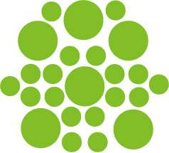 LIME GREEN +1Color Polka Dot Circles Wall Sticker Decal