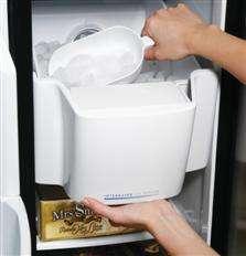 USED GE Monogram 25.5 Cu Ft Stainless Steel Side by Side Refrigerator