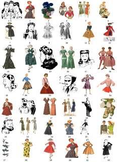 Retro Vintage Women Lady Return Address Labels Favor