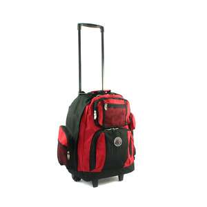 TRANSWORLD ROLL AWAY DELUXE ROLLING BACKPACK RED $60