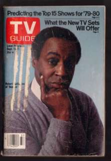 TV Guide Magazine September 15 1979 Benson Robert Guillaume