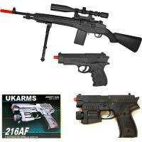 UKArms P14 M14 Style Airsoft Sniper Rifle w/Scope & Bipod + 216AF