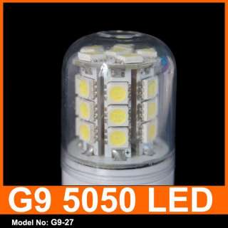Power G9 27 5050 SMD Cool White LED Bulb lamp light 220 240V