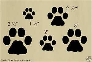 607 STENCIL Cat Kitty kitten prints paws tracks feet