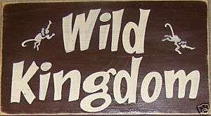 Monkey Theme Jungle Sign Room Decor Kids U Pick Color Wood Plaque