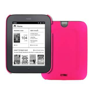 for Barnes and Noble Nook Simple Touch Hot Pink Stealth Case Back Snap