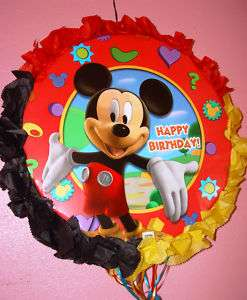 MICKEY MOUSE BIRTHDAY CELEBRATION PULL STRING PINATA