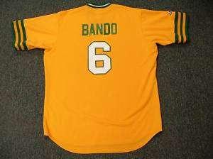 SAL BANDO Oakland Athletics 1973 Cooperstown Jersey XL