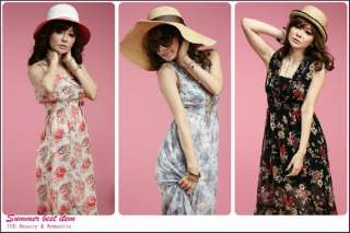 Korean Women V Neck Floral Dress 8409R,BNWT, BLUE,1 sz