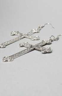 SOOS Rocks Jewelry The Large Antique Cross Earrings  Karmaloop