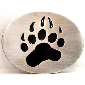 Buckle mit Abdruck einer Bärentatze, Grizzly, Bear Paw