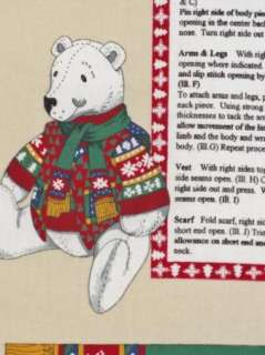 Holiday on Ice Christmas Polar Bear Sweater Snowman Vest Scarf Concord
