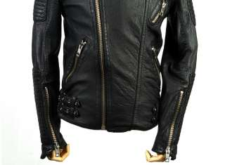 Vegetable Tanned Sheepskin quilted Rider Jacket runway style inspired