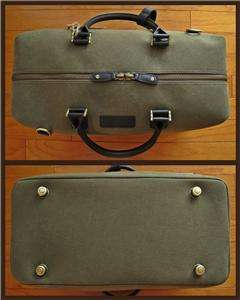 TOMMY BAHAMA Island Hopper Olive canvas Brown leather carryon travel
