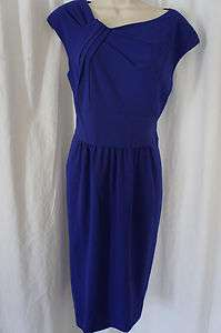 Sz 8 World Traveler African Violet Blue Wear to Work Dress 8
