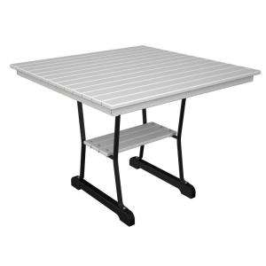 36 in. Black And White Dining Table IVT36FBLWH
