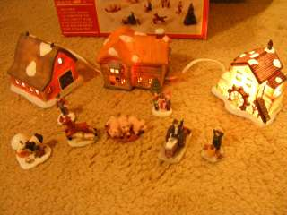 Christmas Porcelain Multi Piece Farm Scene Christmas Village