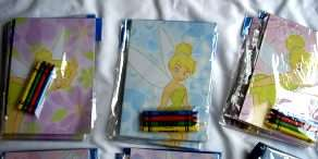 12 set LICENSED Disney Character Coloring Book & Crayon